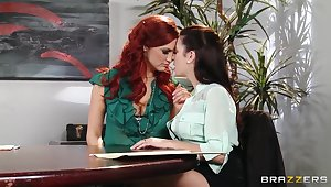 Office inveigling by Jayden Cole and Taylor Vixen