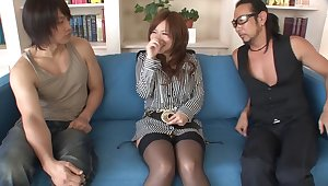 Fabulous Japanese old bag Konatsu Aozona in Incredible JAV uncensored Blowjob videotape