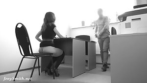 Hidden camera readily obtainable boss office. She strips readily obtainable real interview!