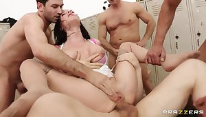 John Strong, Jordan Ash, Marco Banderas together with Veronica Avluv
