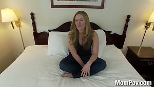 Curvy blonde cooky approximately natural tits fucks