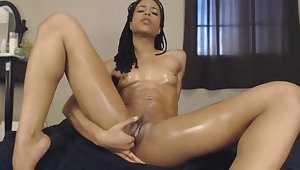 Oiled Up Black Teen