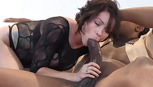 4K Magnificent Harlow Takes beyond everything A Monster Black Cock!