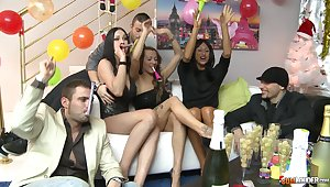 Really hardcore orgy with such a famished Hungarian call-girl Abbie Gyrate